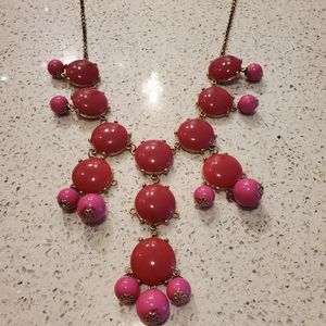 Jewelry - Magenta Pink Bubble Statement Necklace Long Preppy